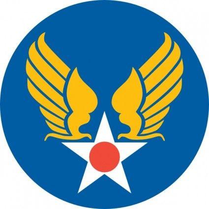 Us Army Air Corps Shield clip art.