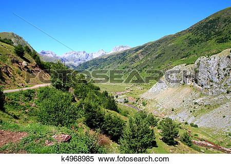 Stock Image of La Guarrinza Aiguestortes Pyrenees mountains.