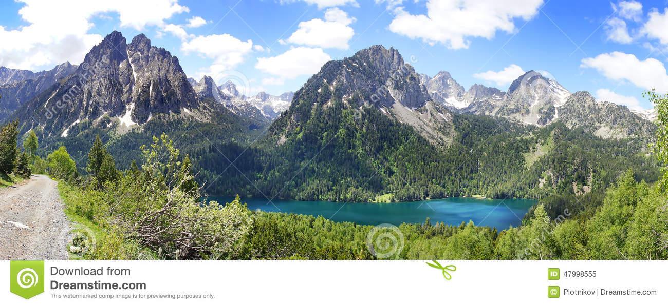 Aiguestortes And Estany De Sant Maurici National Park. Stock Photo.