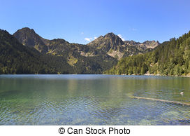 Stock Photo of Aiguestortes national park.