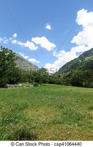 Stock Photo of Aigüestortes National Park in the Catalan Pyrenees.