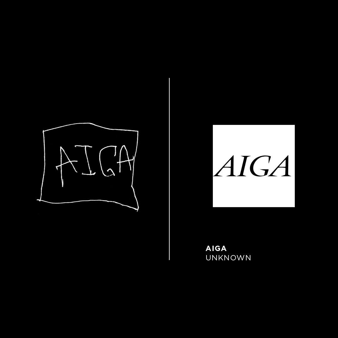 AIGA logo by #BartCrosby drawn by my left.