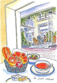 Original drawing of Sempé made for hotel Aiglon paris.