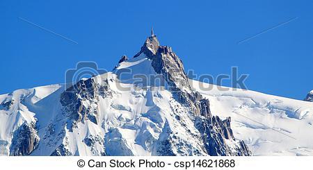 Stock Image of Aiguille Du Midi, Alps, Chamonix, France.