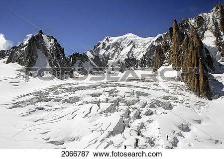 Picture of Cirque Maudit And Mont Blanc, Aiguille Du Midi.