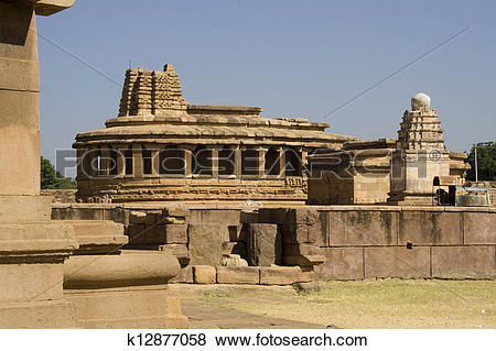 Pictures of Durga Temple at Aihole k12877058.