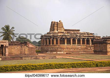 Picture of Durga Temple at Aihole, Karnataka, India, Asia.