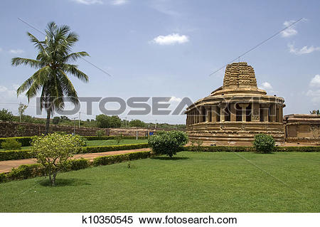 Stock Image of Durga Temple at Aihole k10350545.