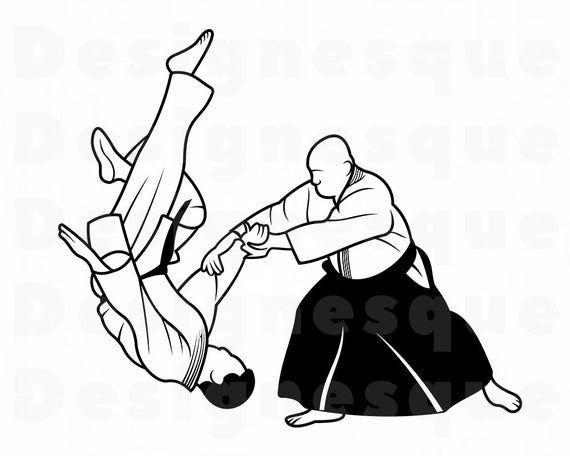 Aikido SVG, Martial Arts Svg, Aikido Clipart, Aikido Files.