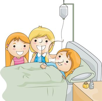 Kids Visiting a Sick Friend in the Hospital.