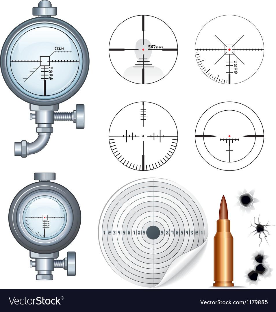 Sniper Scope Target Crosshair Clip Art.