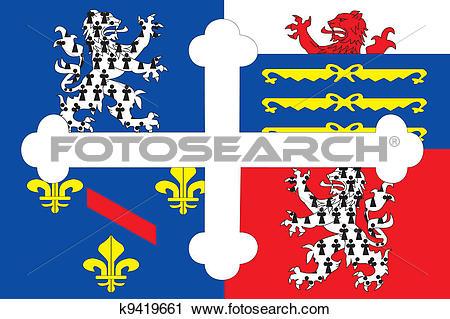 Clipart of Ain dep flag k9419661.
