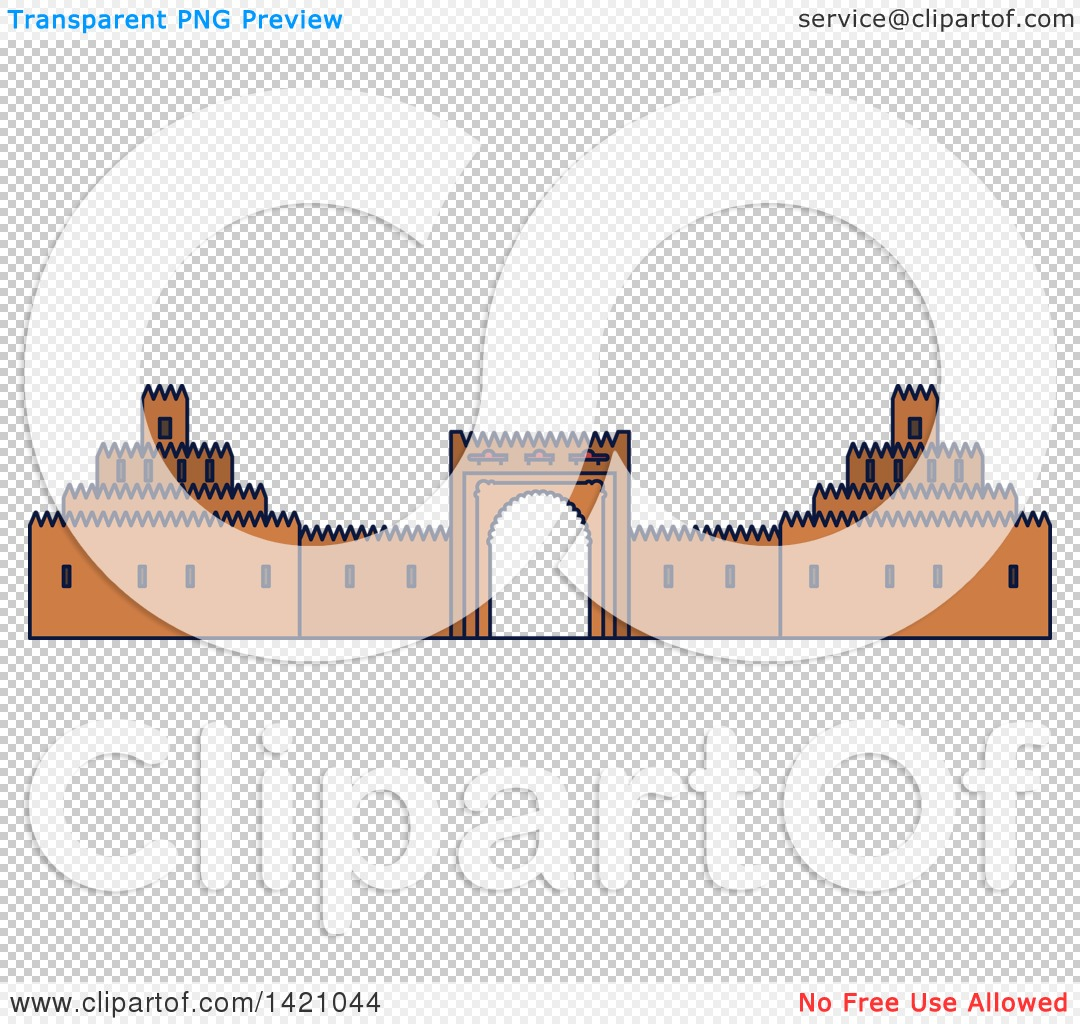 Clipart of a United Arab Emirates Landmark, Al Ain Palace Museum.