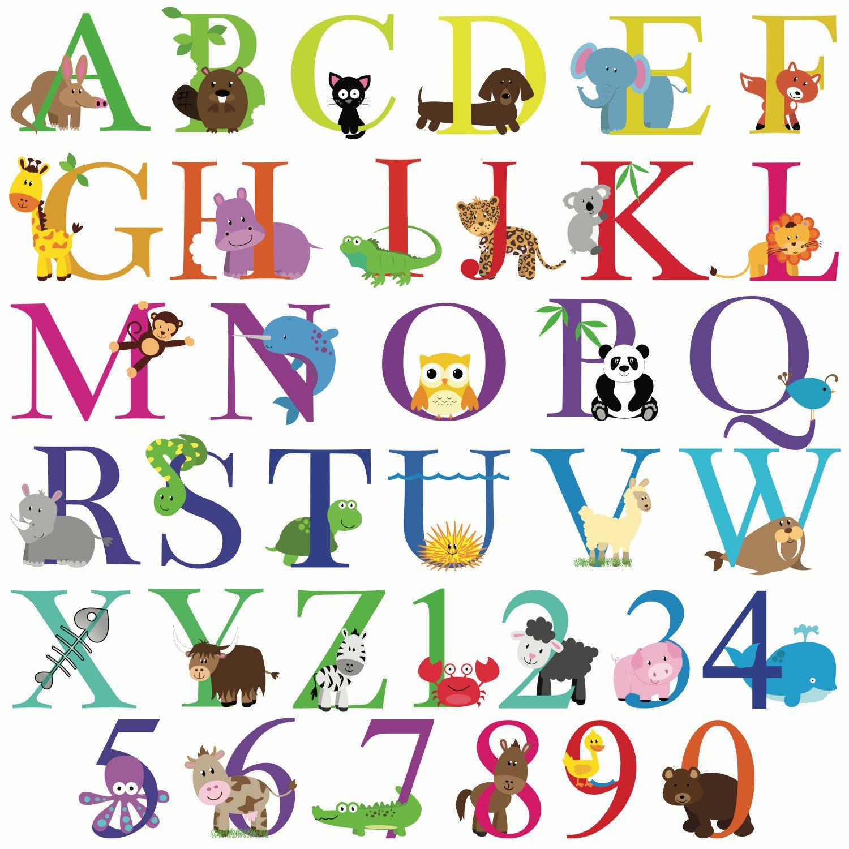 Happy Birthday Banner ABC Alphabet Animals by BloomingEvents.