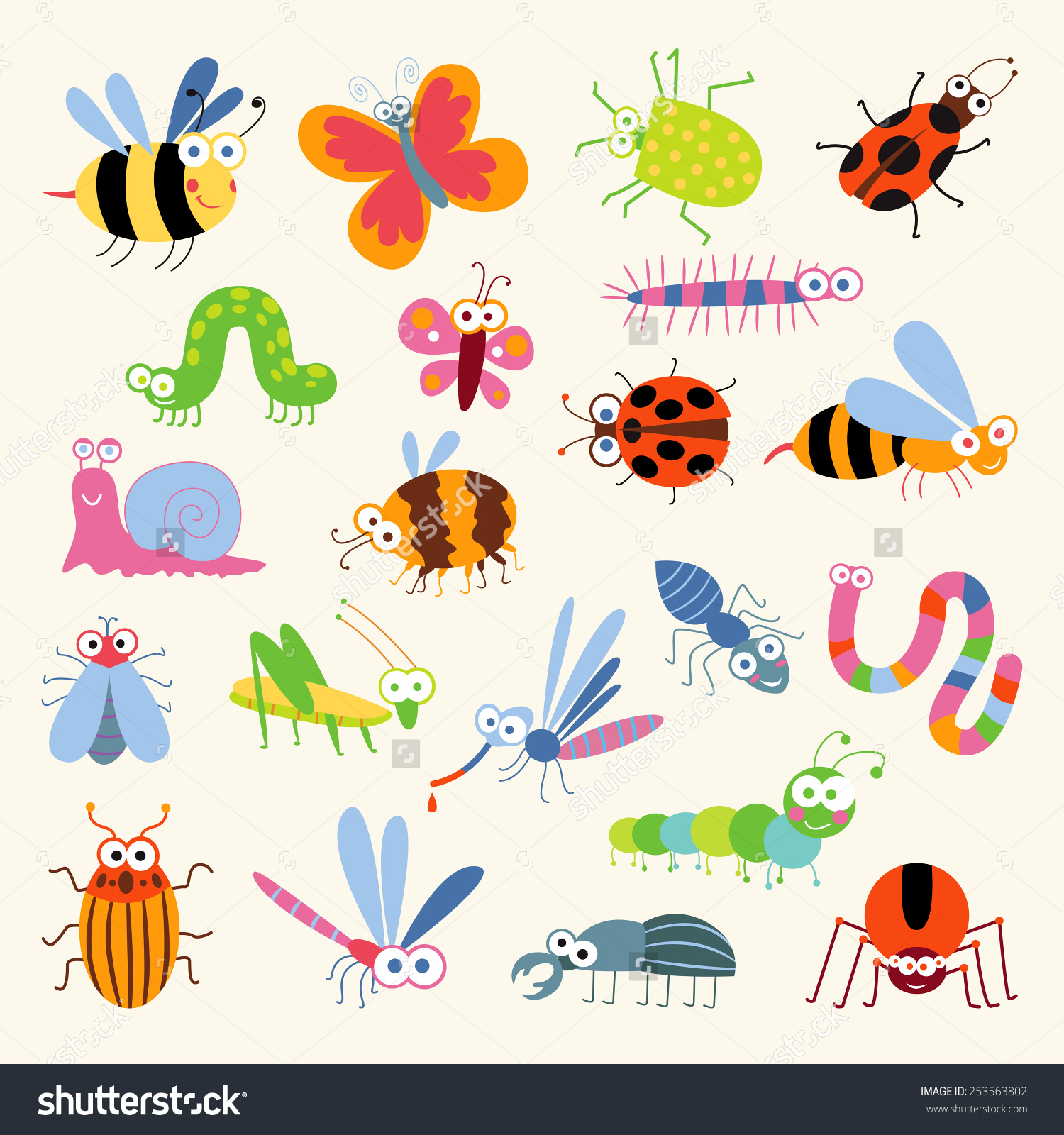 Land And Water Animals Clipart.