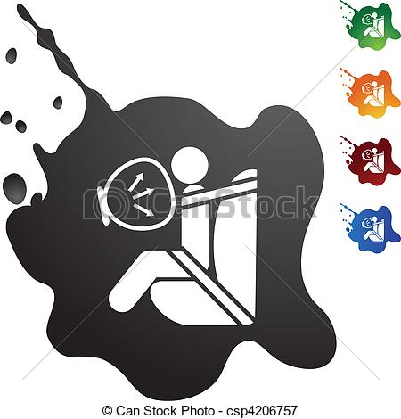 Clip Art Vector of Airbag web button isolated on a background.