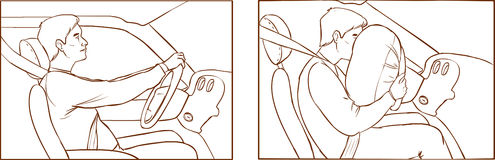 Airbag Stock Illustrations.