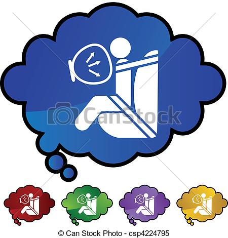 Clipart Vector of Airbag web button isolated on a background.