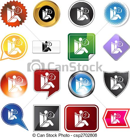 Vector of Airbag Icon Set.