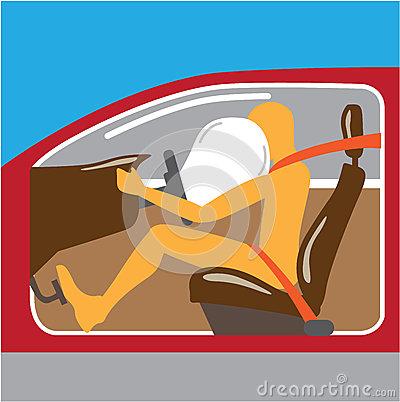 Airbag Seat Belt Works Stock Vector.