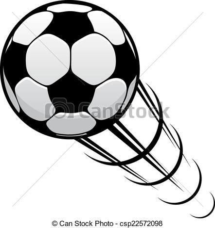 EPS Vectors of Football speeding through the air.