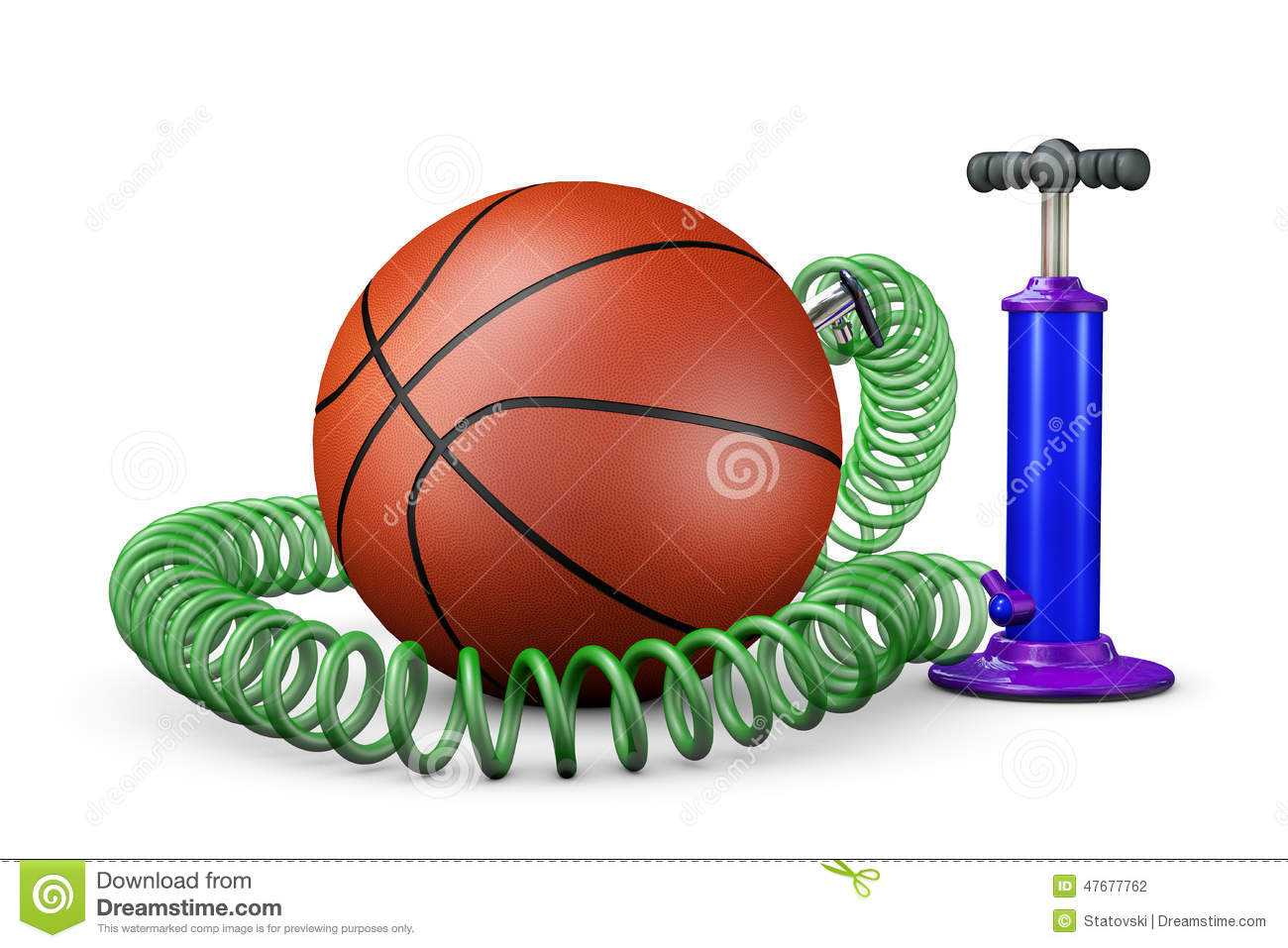 Pump Swings Air In A Ball Stock Illustration.