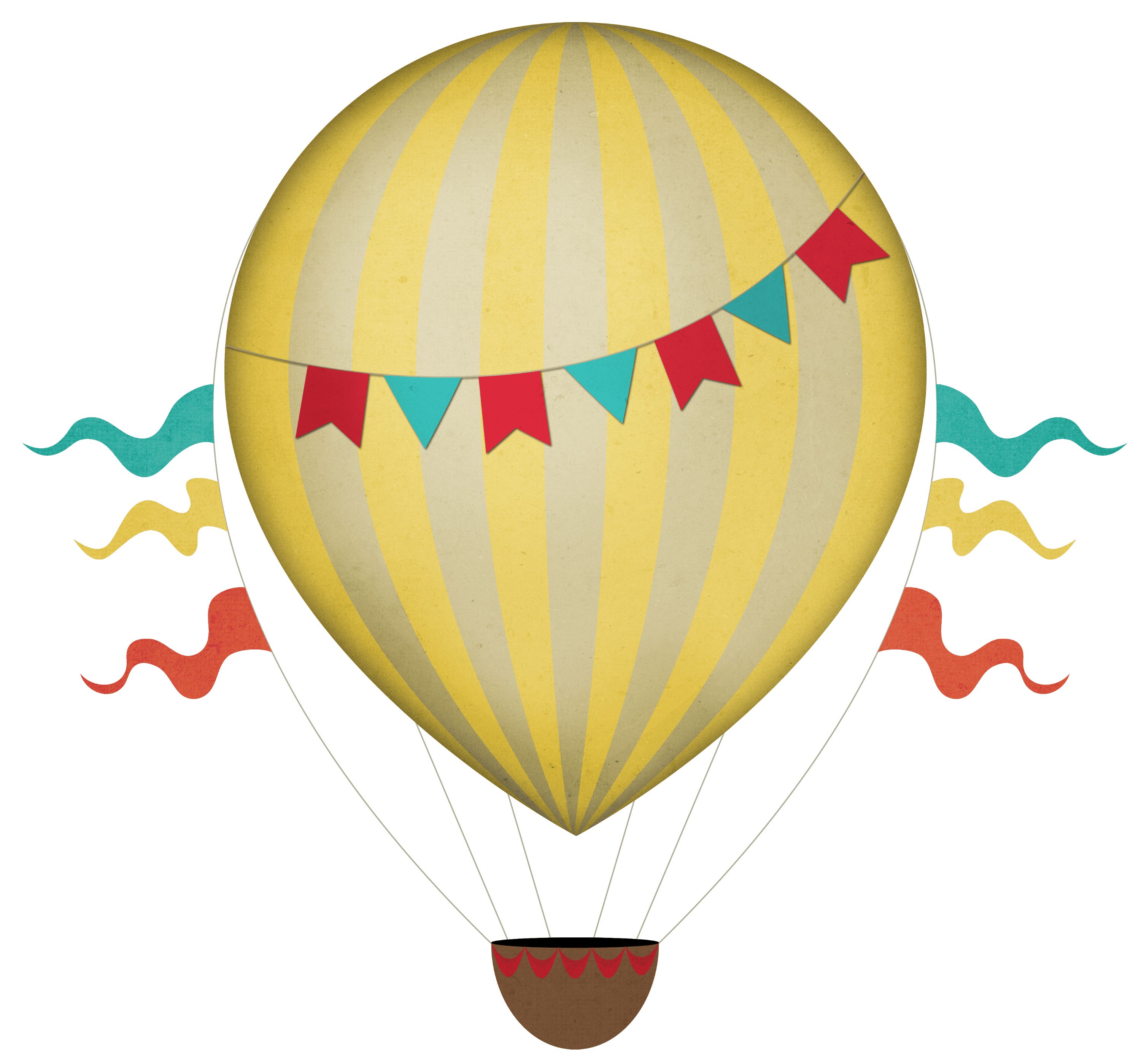 Hot Air Balloon Clipart Transparent Background.