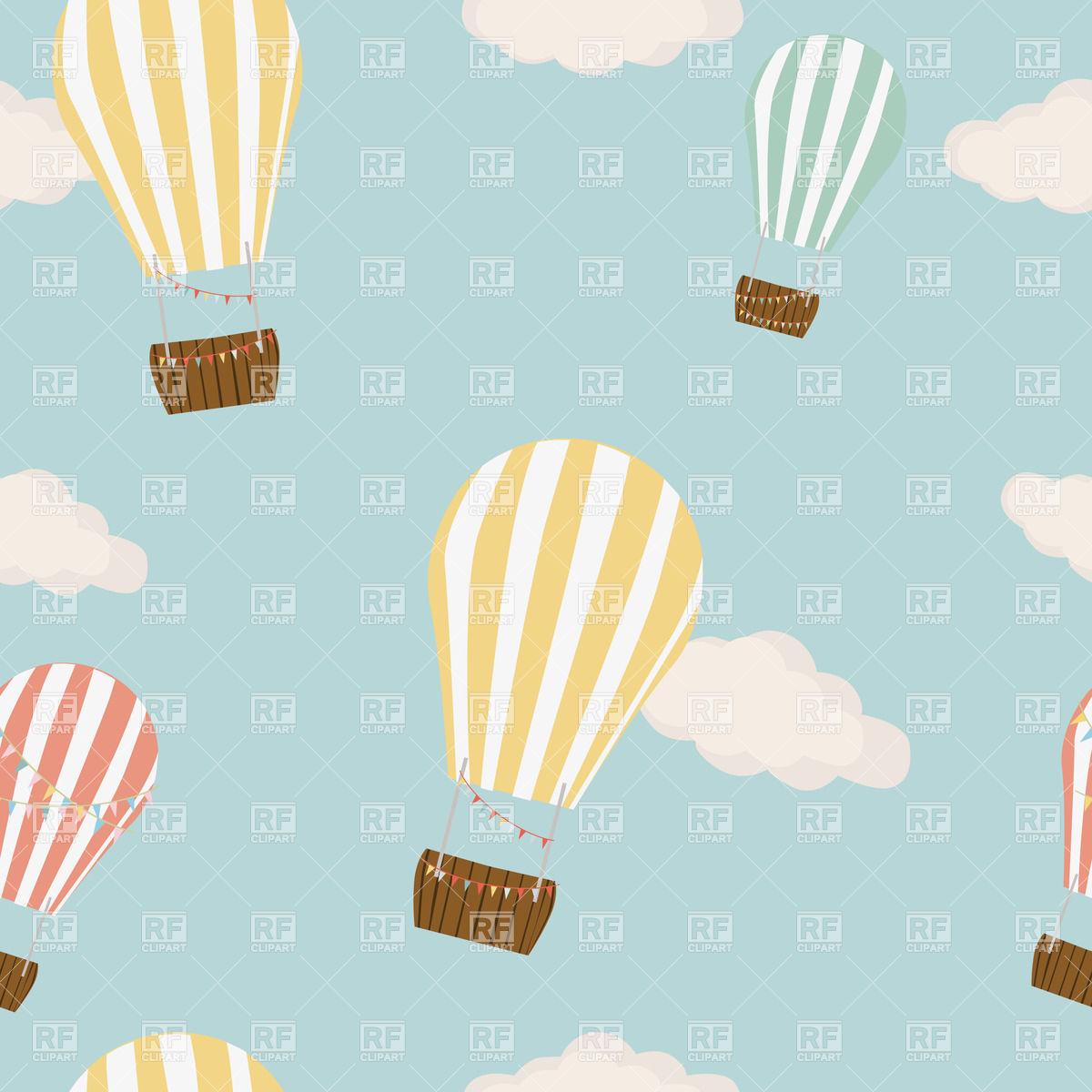 Hot Air Balloon Background Clipart.