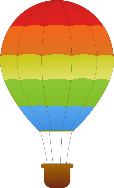 Hot air balloon basket vector free clipart images.