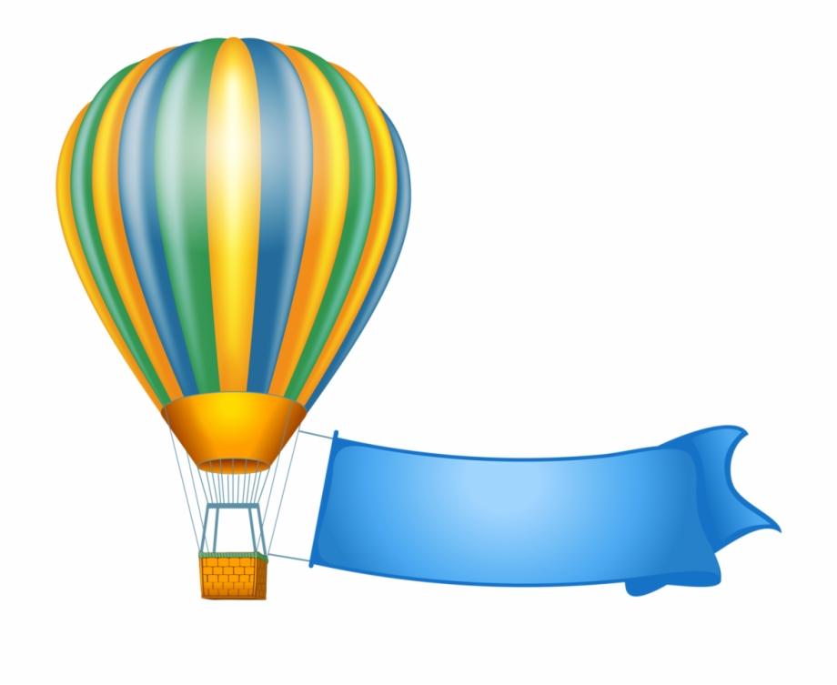 Hot Air Balloon Png Banner.