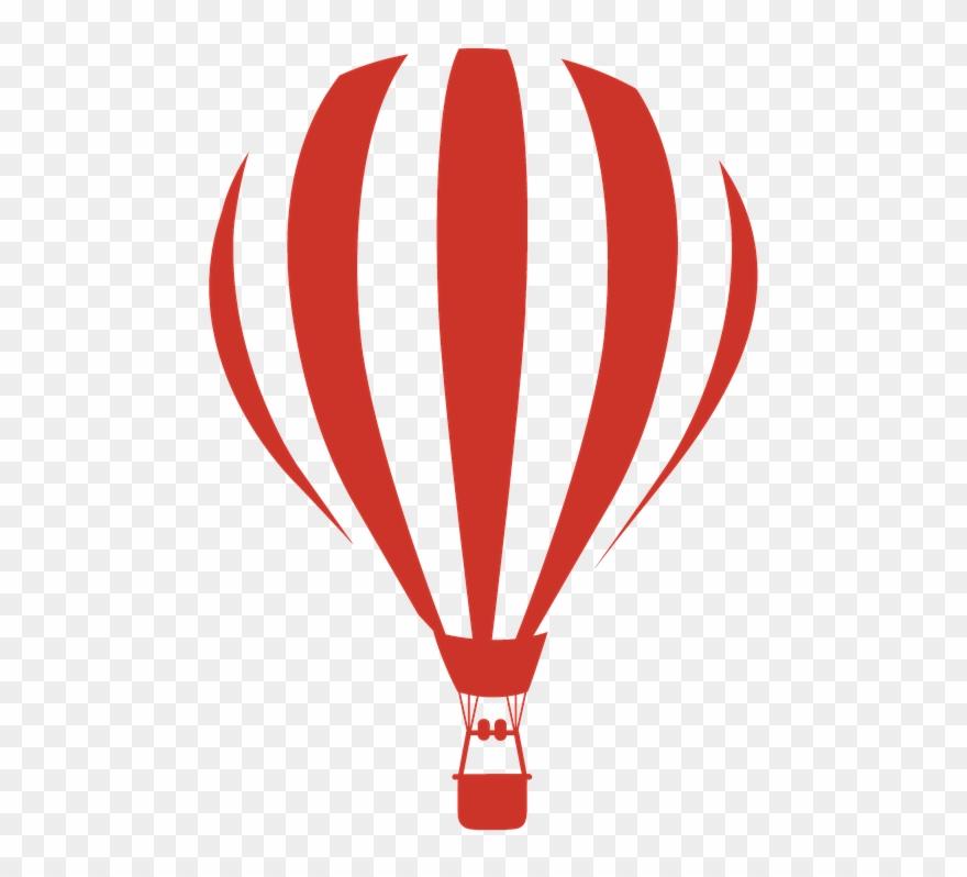 Hot Air Balloon Clipart Red.