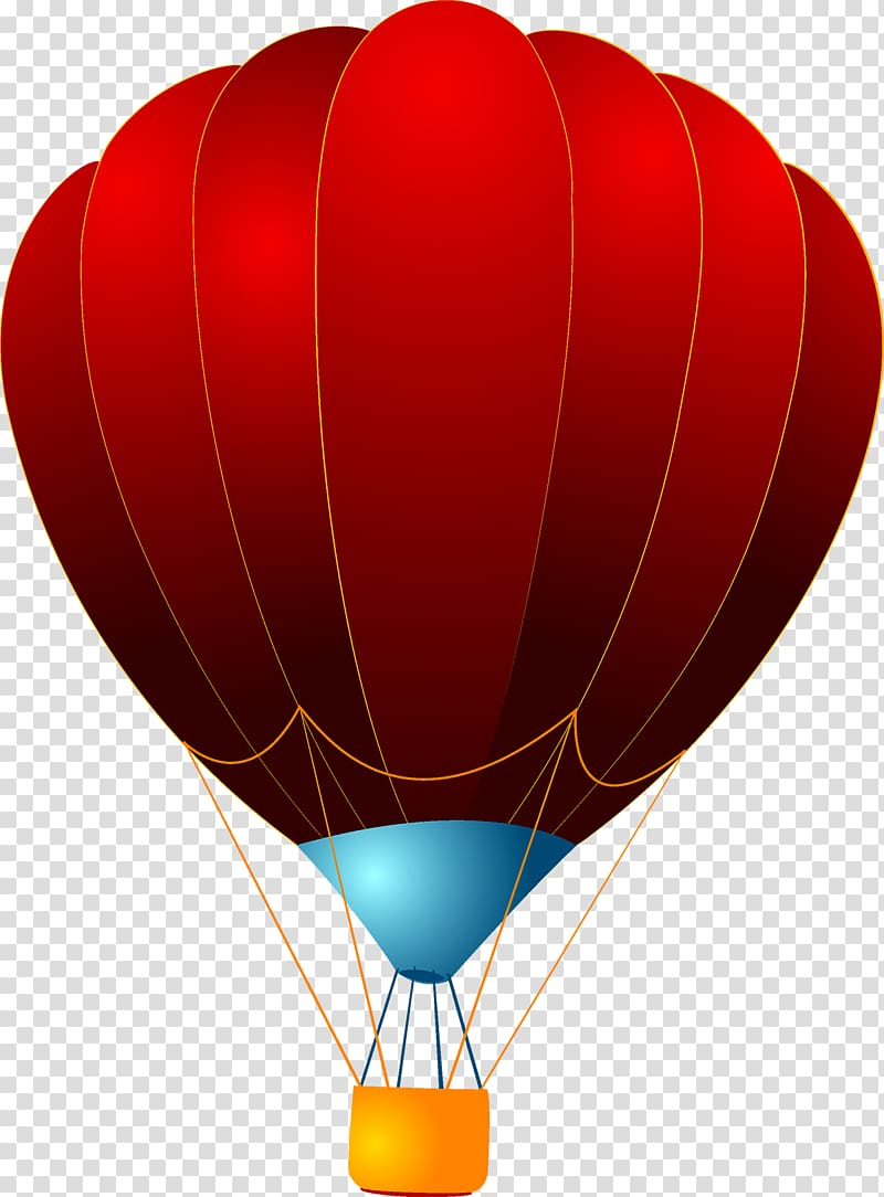 Hot air ballooning Red, Red hot air balloon transparent.