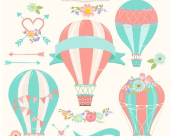 Air balloon clipart.