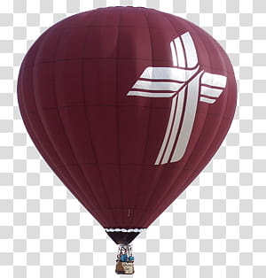 Red and white air balloon close.