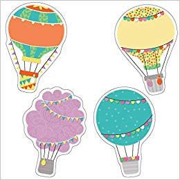 Up and Away Hot Air Balloons Cut.