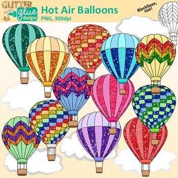 Hot Air Balloon Clip Art: Spring Graphics {Glitter Meets.
