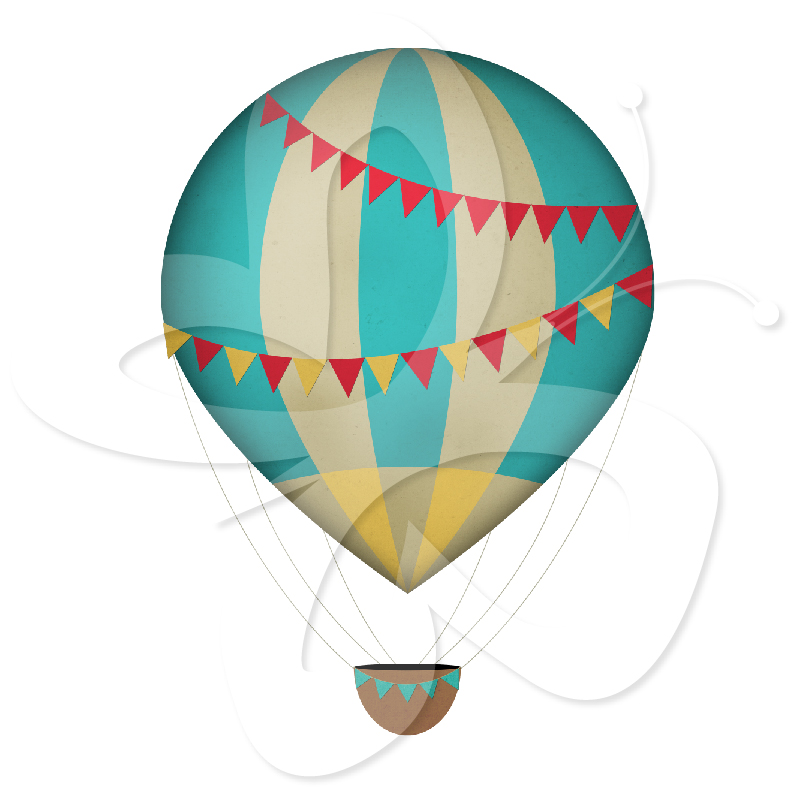 Free download Vintage Hot Air Balloon Wallpaper Clipart.