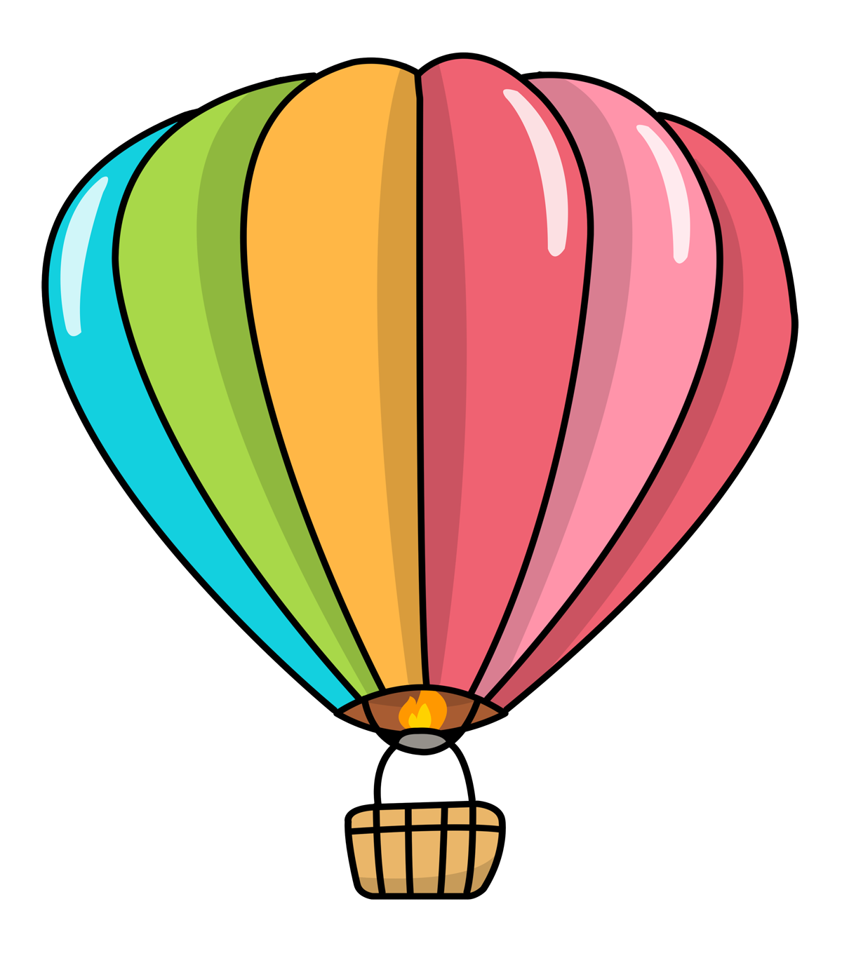 Free to Use & Public Domain Hot Air Balloon Clip Art.