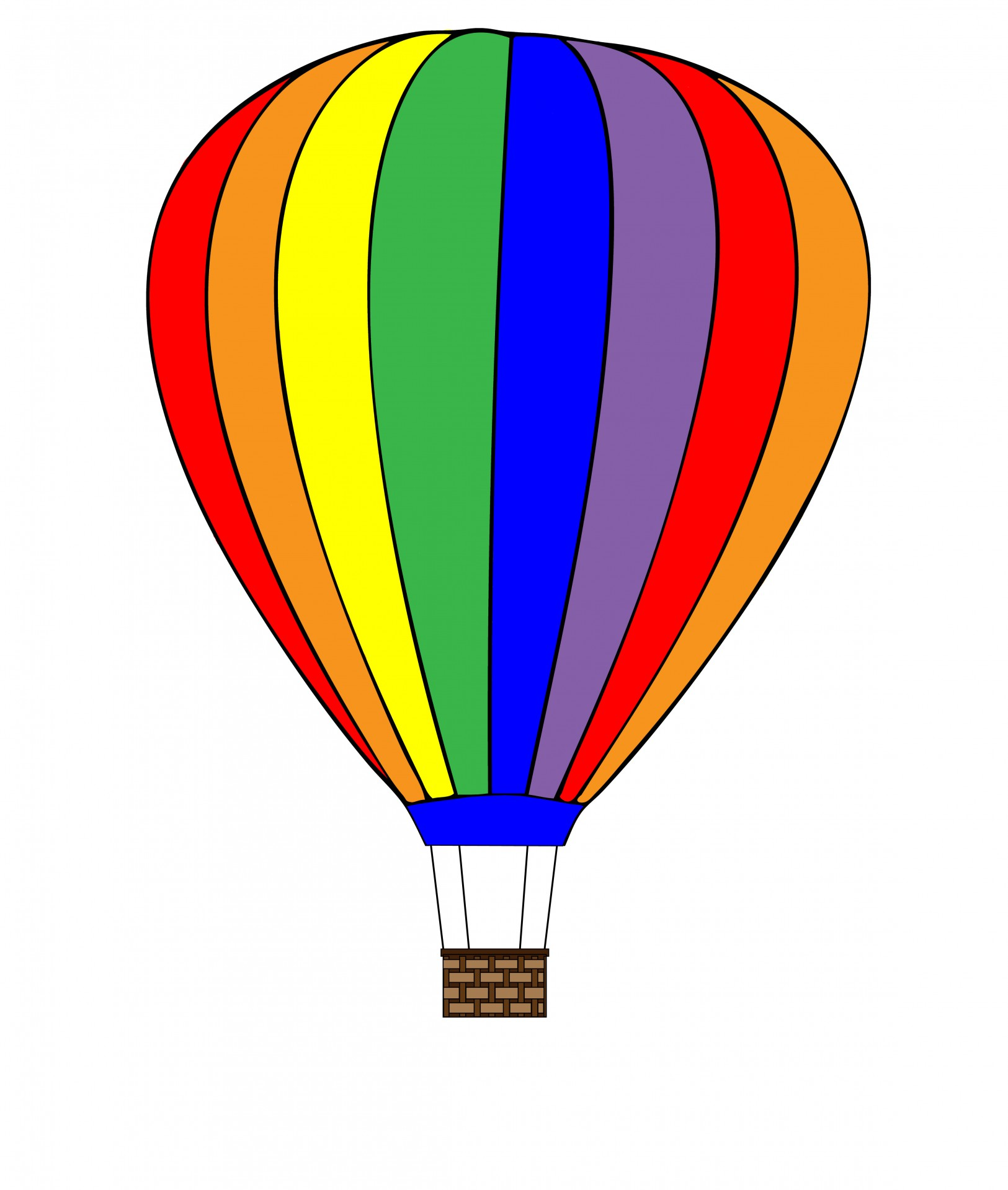Hot Air Balloon Clipart Free Stock Photo.