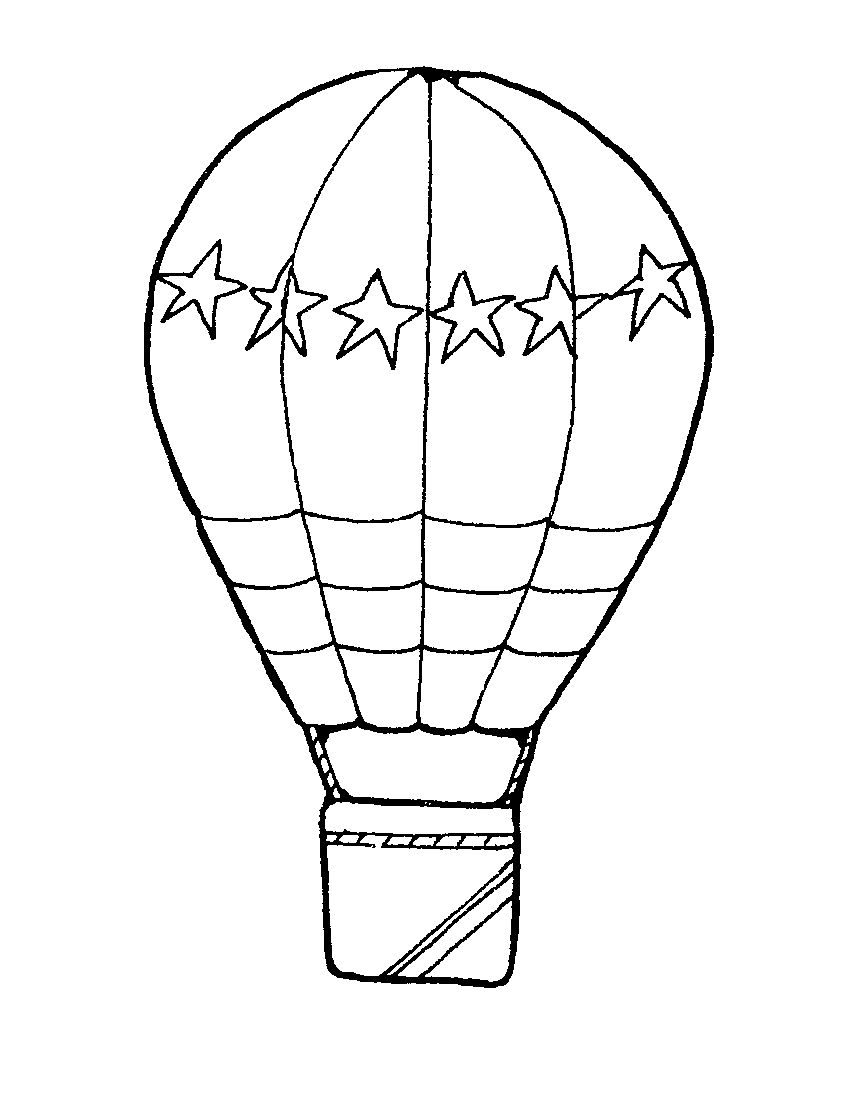 Images For > Hot Air Balloon Clip Art Black And White.