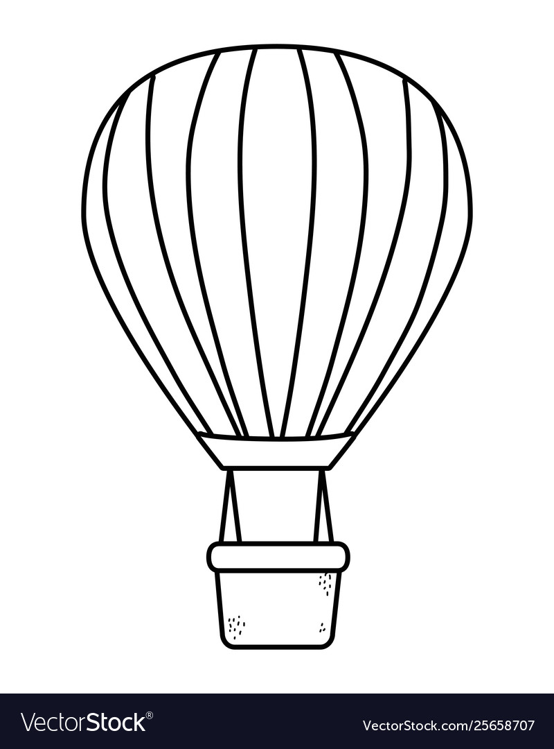 Hot air balloons in black and white.