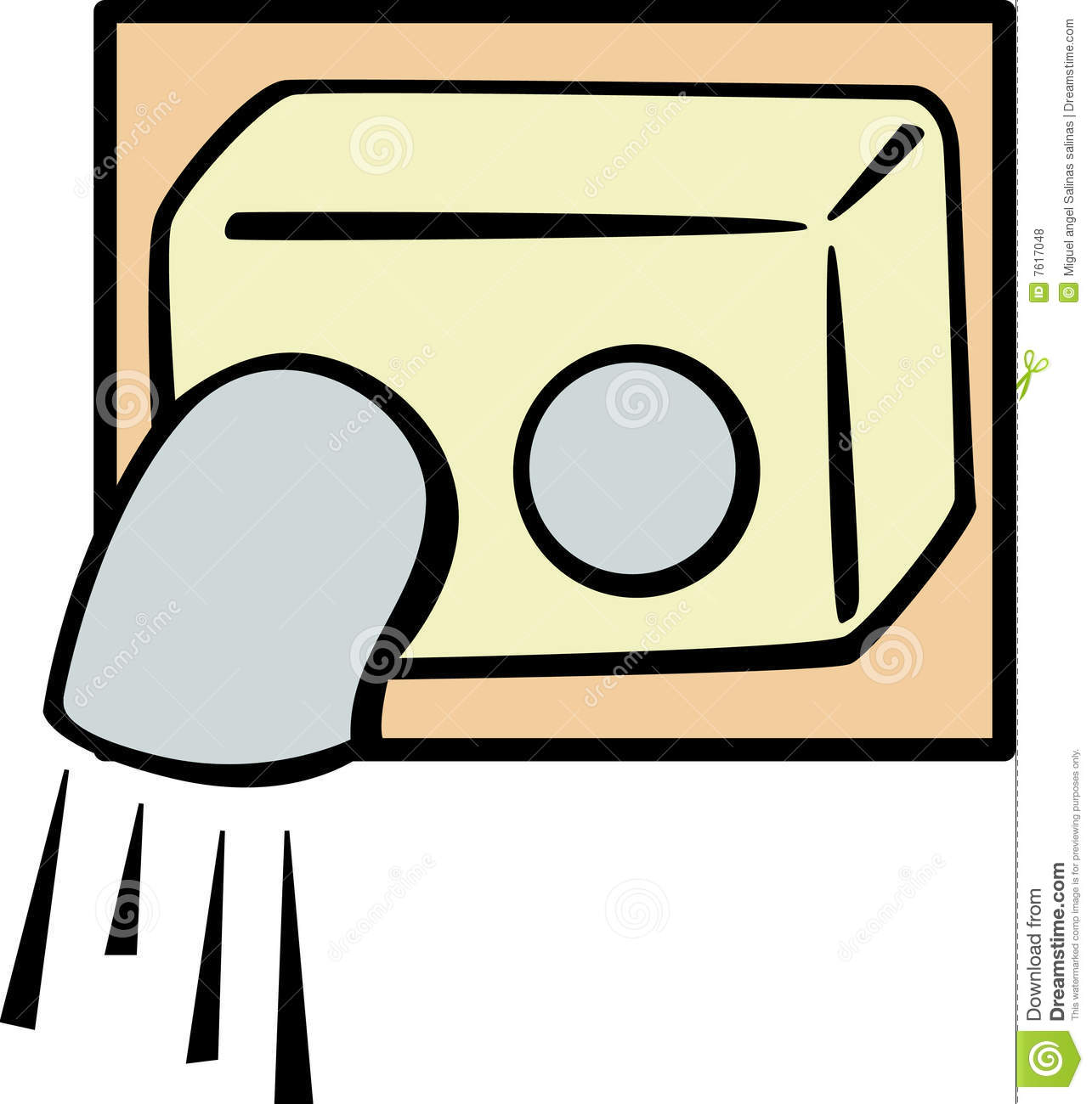 Bathroom Air Blower Vector Illustration Stock Photo.
