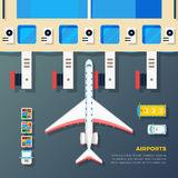 Air Bridge Apron Terminal 2 Stock Illustrations.