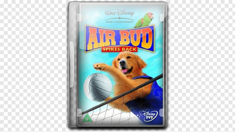 Walt Disney Air Bud Spikes Back DVD case, dog crossbreeds.