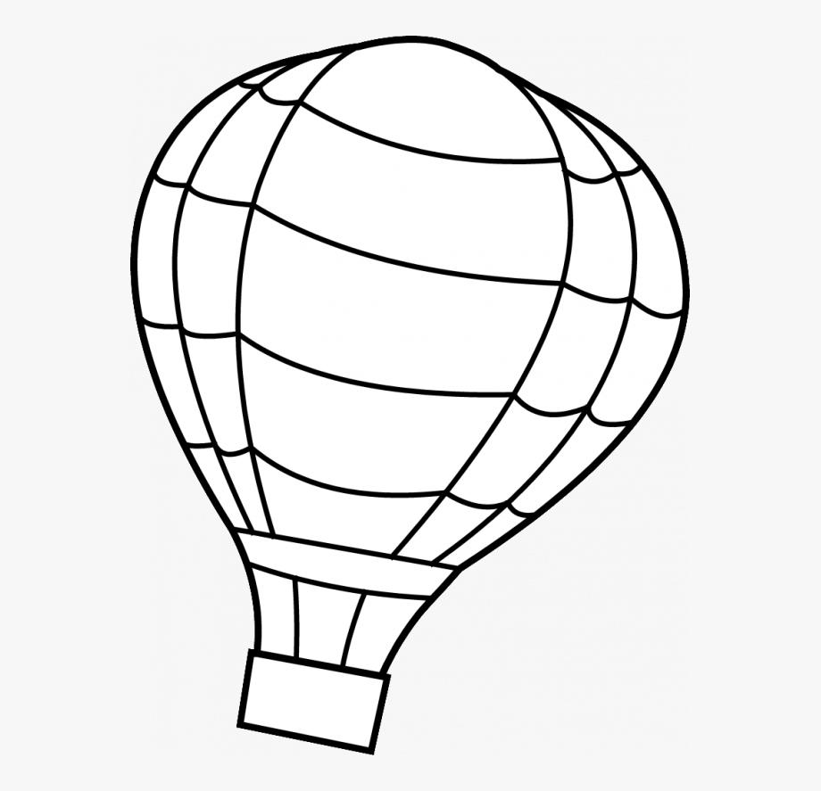 Black And White Hot Air Balloon Clip Art , Transparent.