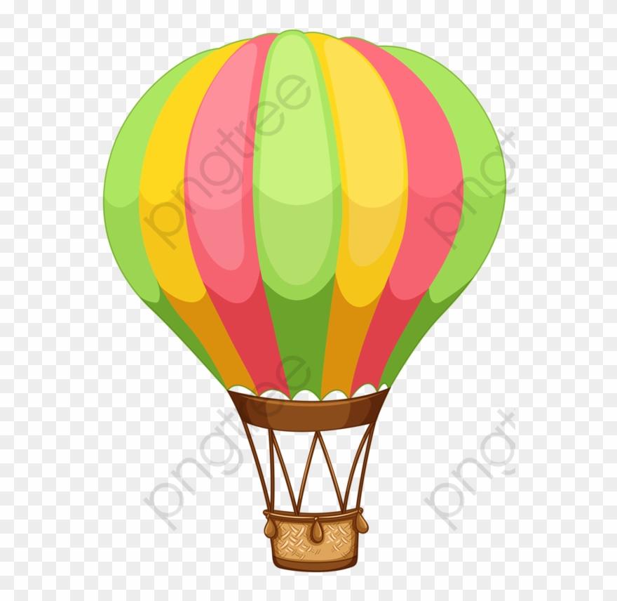 Hot Air Balloon Clipart Transparent Background.