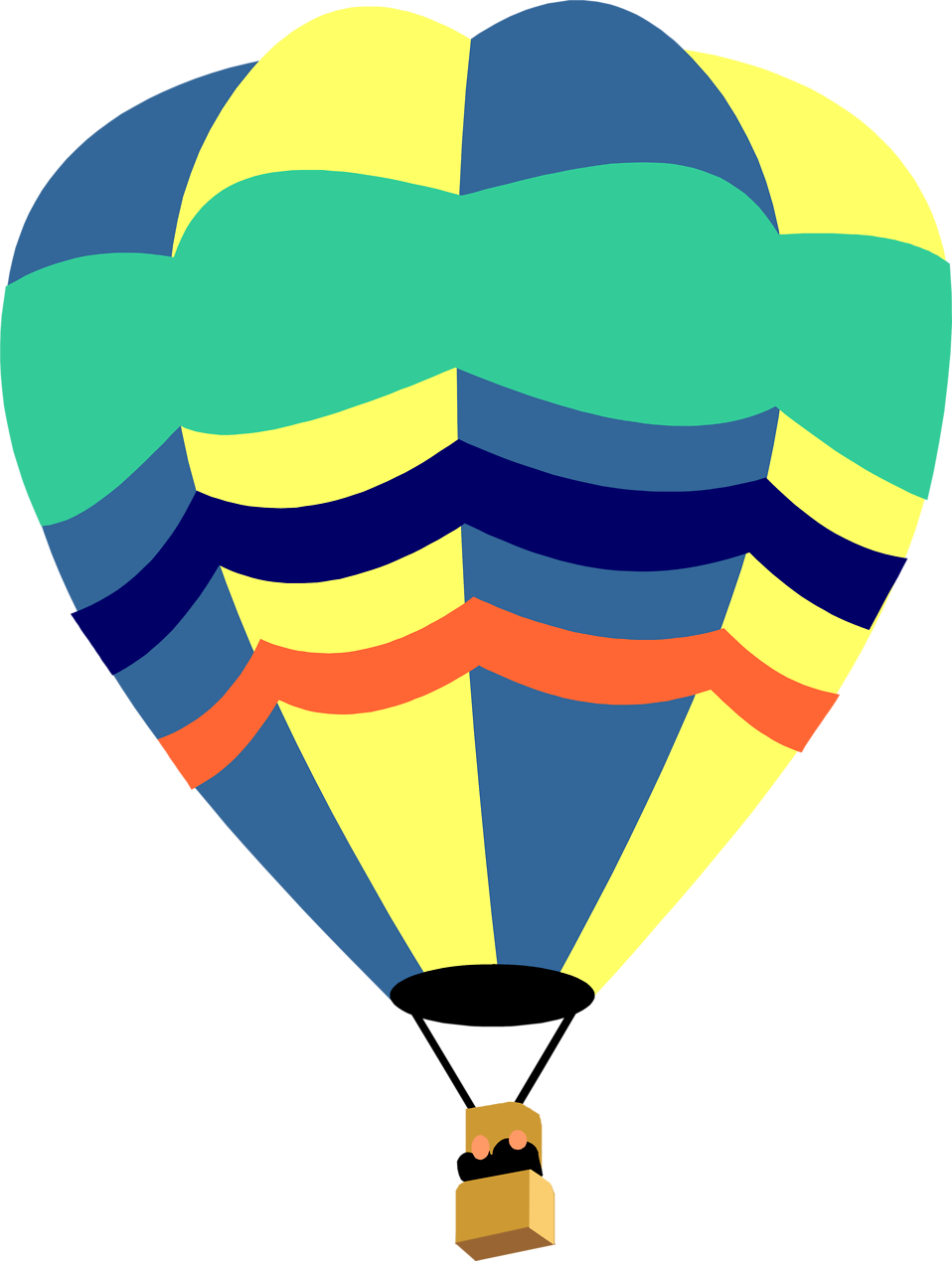 Hot air balloon Free content Flight Clip art.