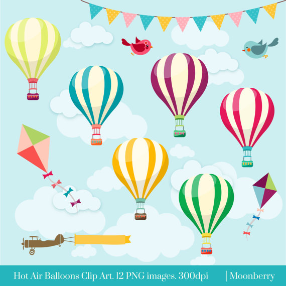 Hot Air Balloons Clip Art HOT AIR BALLOONS Air.