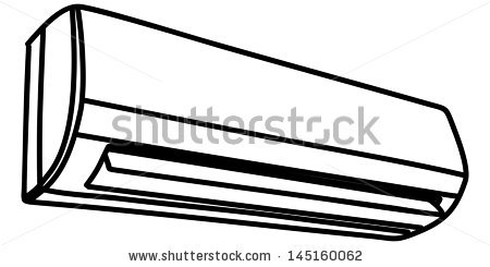 Air conditioner clipart black and white.