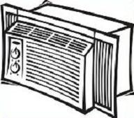 Window Air Conditioner Clipart.